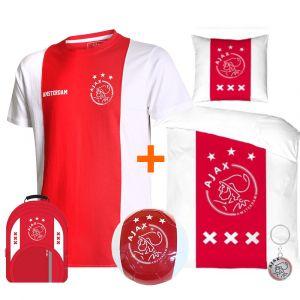 Ajax T-shirt Logo Katoenen Kids Eigen Naam + Ajax merchandising (Superdeal)