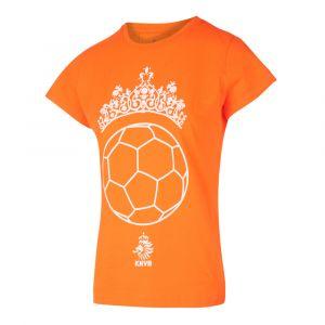 KNVB - Nederlands Elftal - Leeuwinnen T-shirt Meisjes - Tiara Bal - Eigen Naam - Oranje