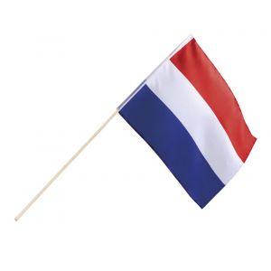 Zwaaivlag Nederland rood-wit-blauw 76 cm polyester